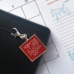 Intentional jewelry charm for your bullet journal boju planner